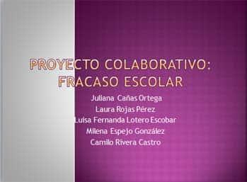 Proyecto colaborativo: Fracaso escolar