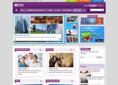 LEARN ENGLISH TEENS webs para aprender inglés