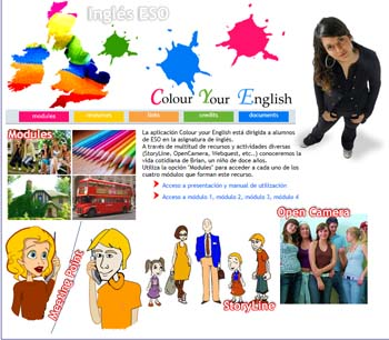 Colour your English webs para aprender inglés