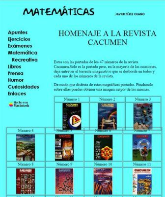 Revista Cacumen, in memoriam