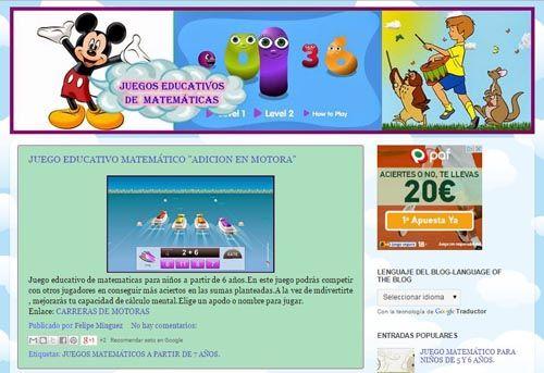Blogs Con Juegos Matematicos Para Aprender Y Practicar