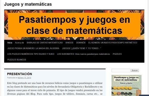 Blogs con juegos matemáticos 6