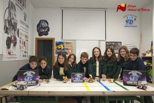 robótica educativa colegio Antonio de Nebrija, Murcia