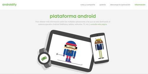 CARAS 6 androidify web