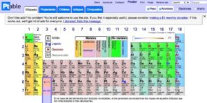 Recursos para repasar y estudiar la tabla periódica de los elementos 11