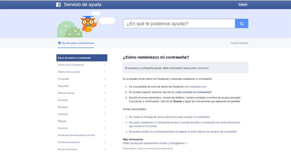 seguridad facebook contraseña