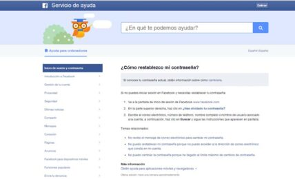 tu cuenta segura en Facebook