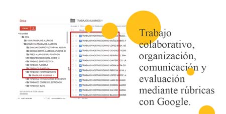 prácticas educativas con TIC rúbricas google