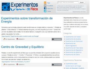 15 blogs con experimentos de Física y Química 12