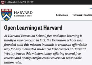 Harvard Open Learning