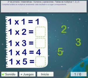 45 juegos interactivos para repasar las tablas de multiplicar 11