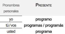 Programar conjugación