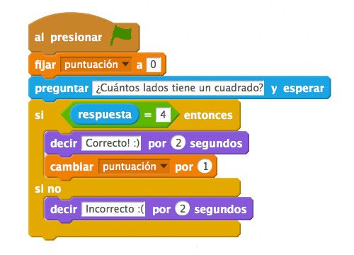 Scratch puntuación con variables