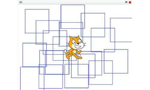El proyecto Scratch de los viernes (II): el gato 'recorre' un cuadrado 3