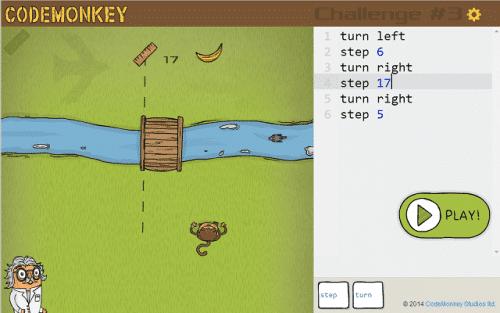 Aprender programación con CodeMonkey