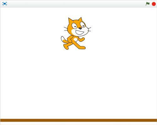 Escenario para la gravedad en Scratch