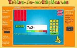 45 juegos interactivos para repasar las tablas de multiplicar 18