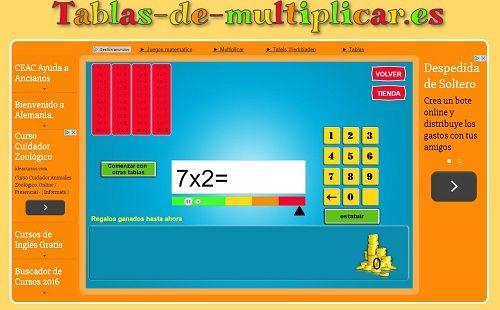 20 juegos interactivos para repasar las tablas de