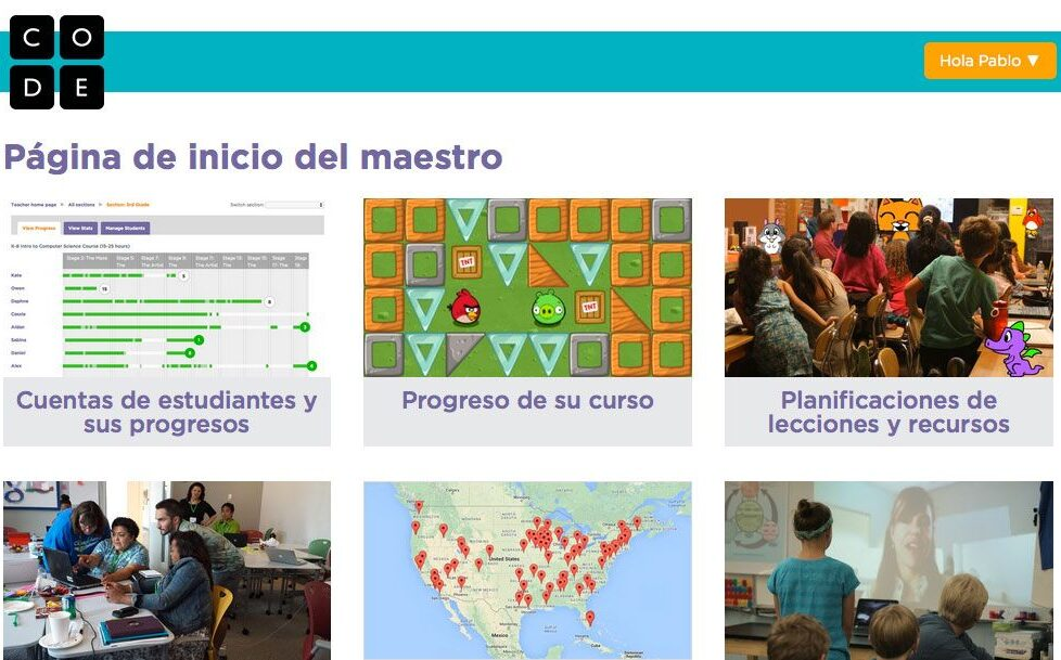 Paso a paso: crea una 'cuenta de profesor' en Code.org para utilizarlo en clase 1