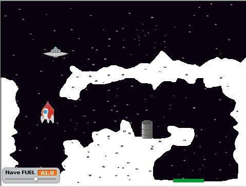 Moon Lander en Scratch, del IES Bajo Guadalquivir