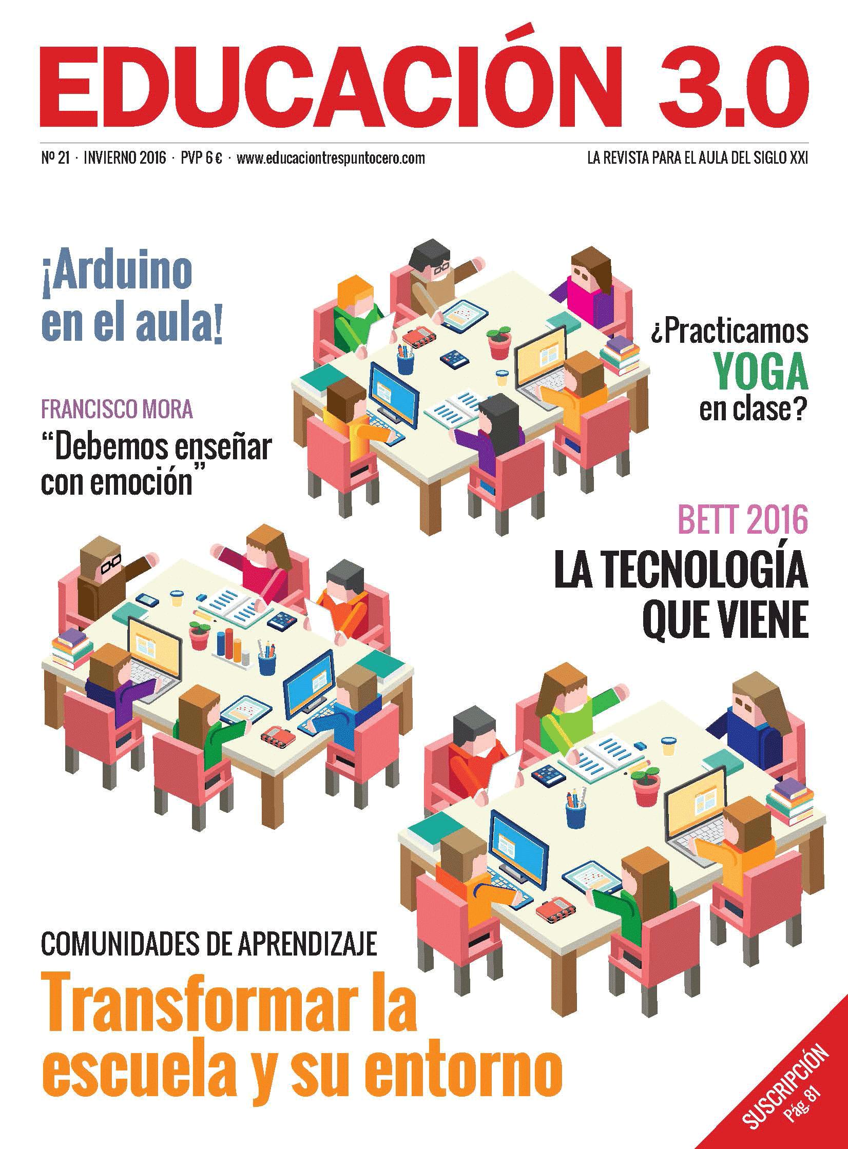 ¡Nº 21 de la Revista Educación 3.0 impresa! 2
