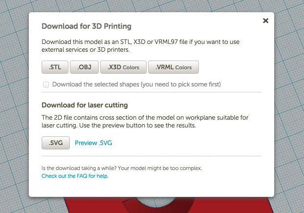 TinkerCAD 3D export