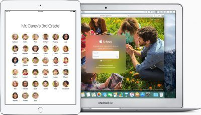 iPad iOS 9.3 education