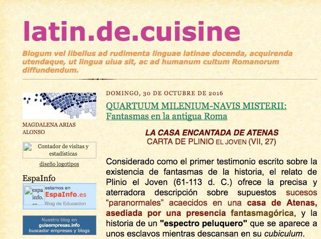 Blogs de latn y griego en espaol con materiales recursos y 2latinisine urtaz Gallery