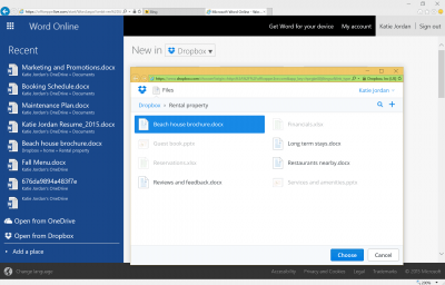 Dropbox and Microsoft Office integration