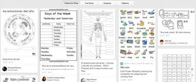 Pinterest worksheets para educación