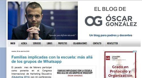 blog Óscar González