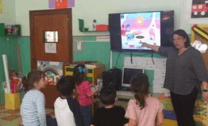 iPad y Tiny Trees para trabajar con alumnos del colegio La Purísima para niños sordos 2