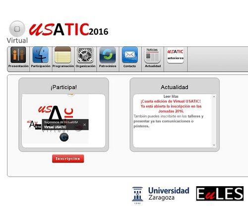 Jornadas Virtuales USATIC 2016: conferencias y talleres on line sobre el aprendizaje con TIC 2