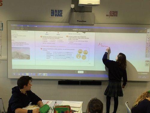 Los estudiantes del Colegio Caude mejoran sus resultados con Promethean
