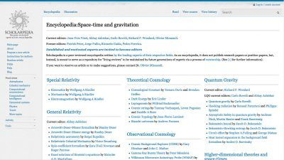 Scholarpedia encyclopedias
