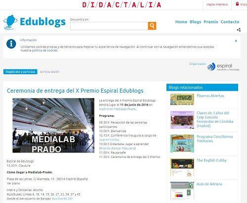 X Premio Espiral Edublogs
