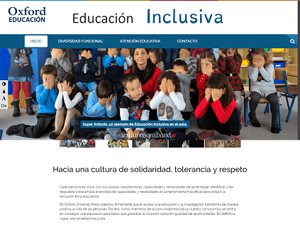 La web de Oxford para la educación inclusiva 2