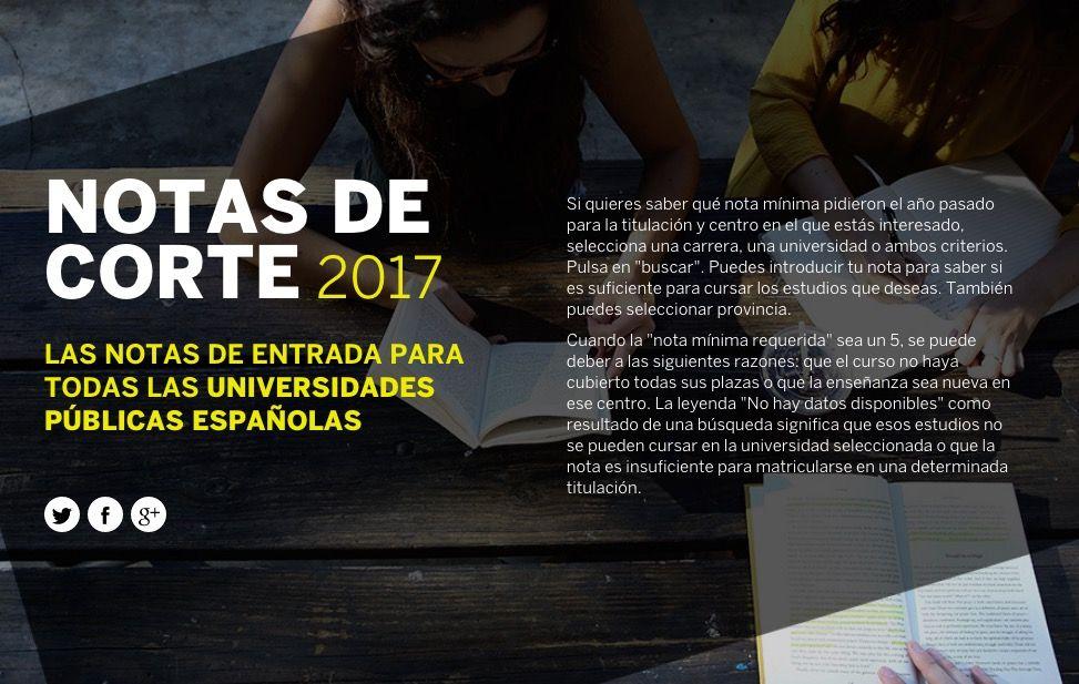 El País – Notas de corte 2017