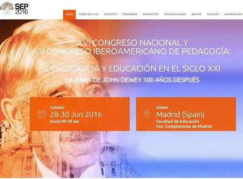 XVI Congreso Nacional y VII Congreso Iberoamericano de Pedagogía