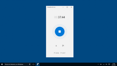 grabar audio Microsoft Sound Recorder