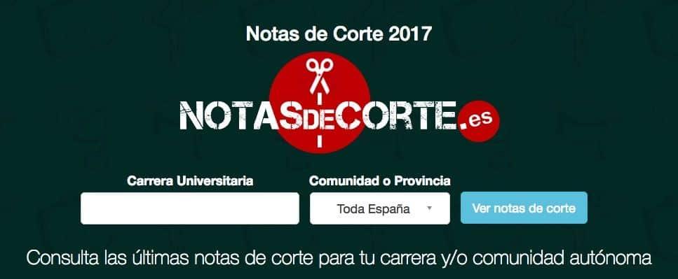 Notas de Corte web 2017