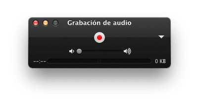 Quicktime Audio recording grabar audio