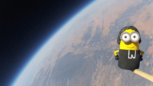 globo de helio para estudiar la estratosfera