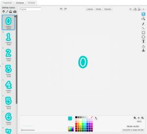 Disfraz con números en Scratch