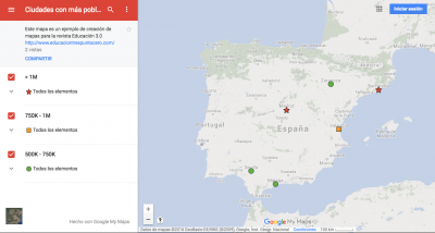 Google My Maps final example