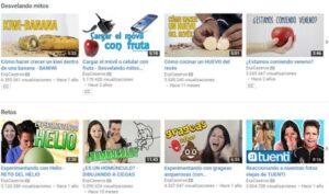 20 canales de vídeo para hacer experimentos 19