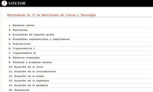 Recursos para aprender y repasar Matemáticas en Bachillerato 5