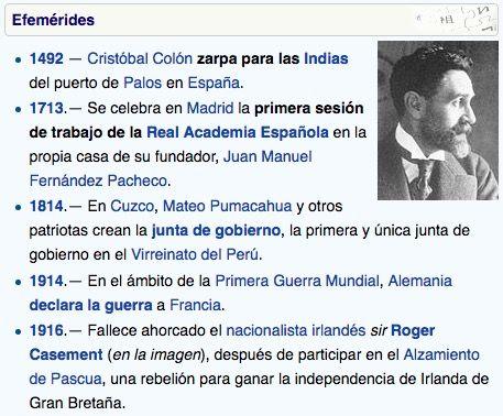 Wikipedia - Efemérides