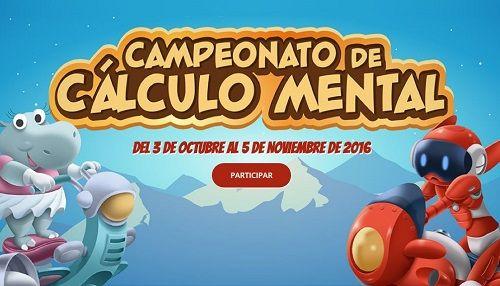Campeonato de Cálculo Mental para alumnos de Primaria