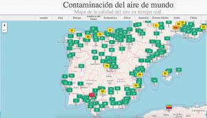 mapa interactivo contaminación